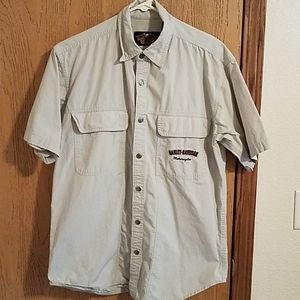Harley Davidson Mens Med SS Snap Down Shirt